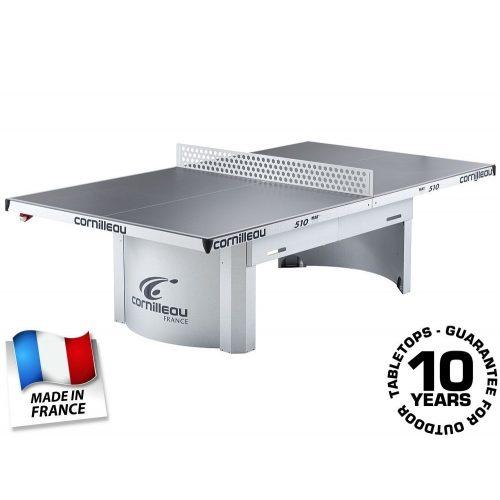Cornilleau Pro 510 Mat Top Outdoor kültéri közösségi pingpong asztal SZÜRKE