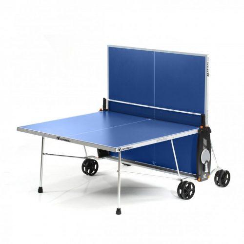 Cornilleau Crossover 100 Outdoor KÉK  kültéri pingpong asztal, szintezhető lábbal,  egyoldalas játék lehetőséggel